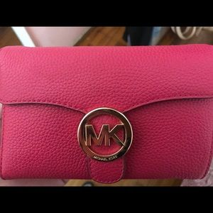 Hot Pink Michael Kors crossbody bag